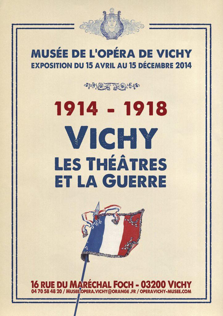 Exposition 2014 Vichy, les théâtres et la guerre 1901-1914 - affiche