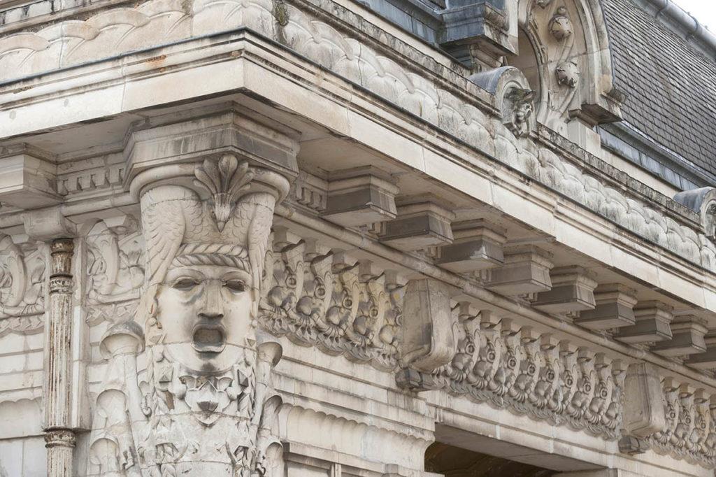 L'Opéra de Vichy - détail de la façade